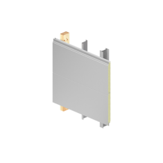 Wall with composite panels